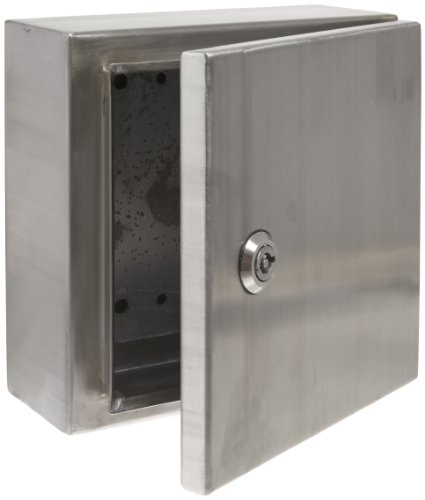(BUD Industries Series SNB NEMA 4 Stainless Steel Box with Mounting Bracket, 7-55/64