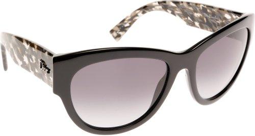 Dior Lunettes de soleil Dior Flanelle 1 Pour Femme Black / Grey Tweed / Grey Gradient 2X5/HD: Black / Grey Tweed
