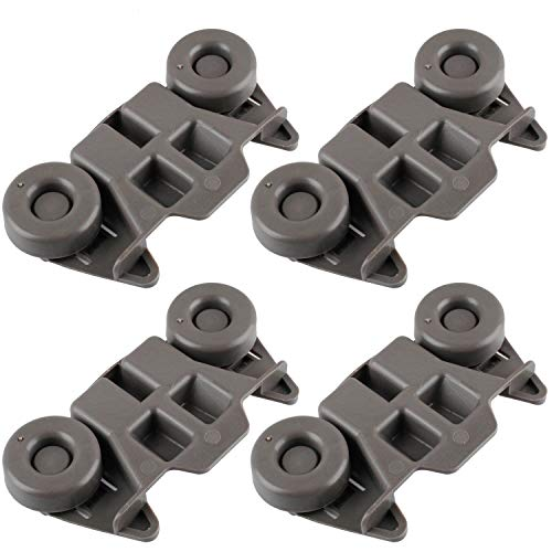 Siwdoy (Pack of 4) W10195416 Dishwasher Wheel Compatible with Whirlpool Dish Rack AP5983730, PS11722152, W10195416V