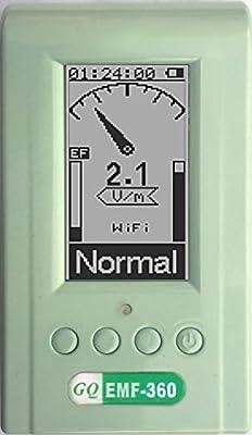 Advanced GQ EMF-360 Plus multi-field Electromagnetic EMF Meter with 2.4G RF Spectrum Analyzer