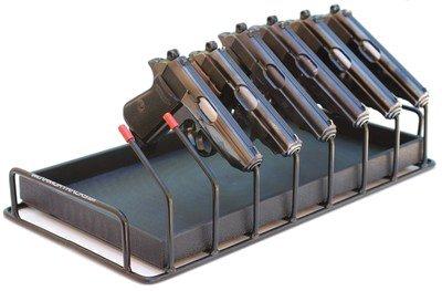 Armory Racks 8 Gun Store, Secure & Carry Handgun Pistol Rack. Neoprene Hanger Coating and - Store Secure