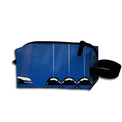 Clash Durable Zipper Wallet Makeup Handbag With Wrist Band Physics Inertia Balls Toiletry Bag