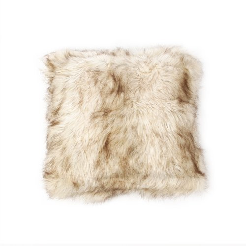 Best Home Fashion Faux Fur Pillow - Champagne Fox - .30