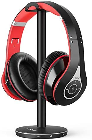 Mpow 059 TV Bluetooth Headphones Wireless Headphones Over Ear100ft Wireless Range and Up to 25H Playtime Bluetooth 5.0 TV headsets Rechargeable Foldable for TV/PC and AV Receivers