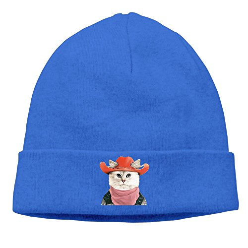 Rodeo Cat Beanies Caps Skull Hats Unisex Soft Cotton Warm Hedging Cap ,One Size -