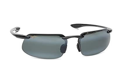 04f714153b Maui Jim 409-02 Gloss Black Kanaha Rimless Sunglasses Polarised Golf ...