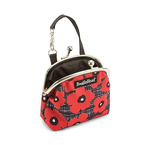 orn, PaciPurse, Purse, Pacifier Case, PaciGrip, Pacifier Clip, Holder, Pacifier, Soothie, Poppies, flowers, floral, Red and black ()
