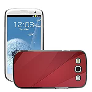 Super Stellar Slim PC Hard Case Cover Skin Armor Shell Protection // M00049530 abstract design red graphic aero // Samsung Galaxy S3 i9300