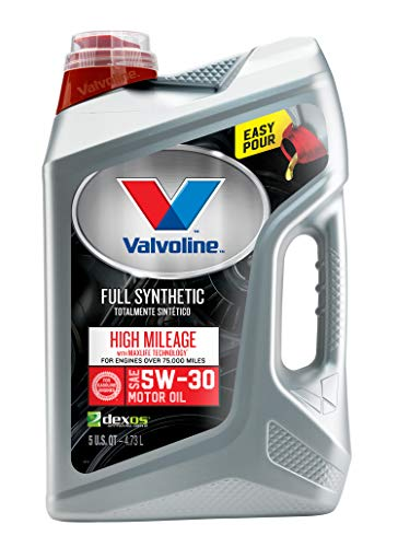 Valvoline  Full Synthetic High Mileage with MaxLife  Technology SAE 5W-30 Motor Oil 5 QT (2004 Jeep Grand Cherokee 4-7 Oil Type)