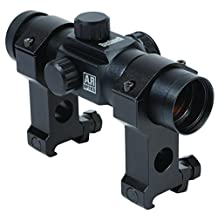 Bushnell AR Optics 1x 28mm Riflescope with Tactical Rings, 6 MOA Red Dot Reticle