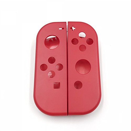 Full Housing Faceplate Handle Shells Case Cover for Nintendo Switch Controller Joy-Con Faceplate Mario Red