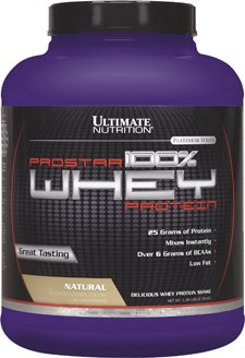 Ultimate Nutrition ProStar Whey Protein, Pure Natural Flavor, 5.28-Pound Tub (Whey Pure Protein Nutrition)