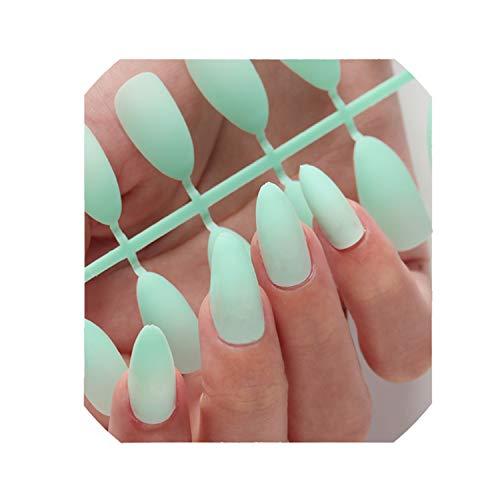 - Nail Art Manicure 24Pcs Matte Tips False Nails Fake Formsn 02