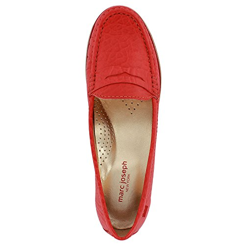 Echtes Lackleder Damen Made In Brasilien East Village Klassische Penny Loafer Marc Joseph NY Mode Schuhe Korallenrhino