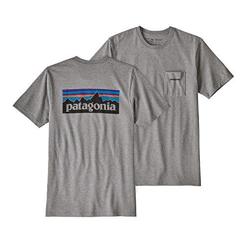 Patagonia Pocket Pack - Patagonia M's P - 6 Logo Pocket Responsibili - Tee Men's T-Shirt Short Sleeve (Large) 39178