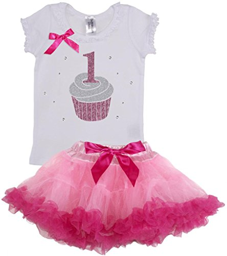 Bubblegum Divas Baby Girls' 1st Birthday Cupcake Tutu Set
