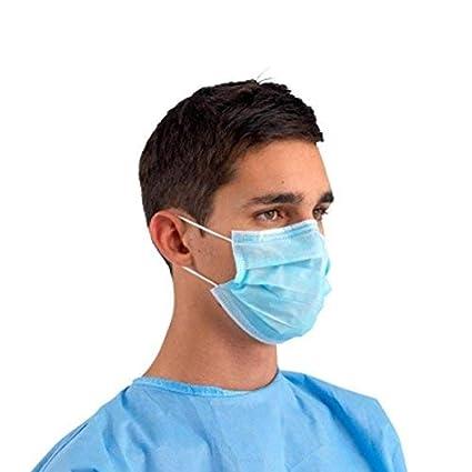 Paquete de 5 unidades – se suministra en bolsa sellada de fábrica, protección médica de Reino Unido, color blanco, azul y verde.
