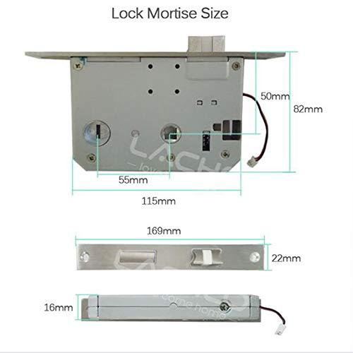 GAOPIN Smart Lock - Fingerprint Smart Door Lock, Code, Touch Screen Digital Password Biometric Electronic Lock Key for Home Office,Silver by GAOPIN (Image #4)