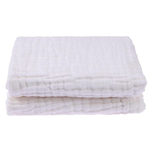 Price comparison product image Vipeco Fashion 6 Layers Baby Bath Towel Beach Quilts Soft Cartoon Swaddle Blanket(White)