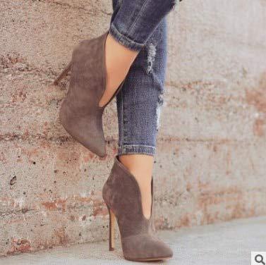 db3a3ace9e4df Amazon.com : HuWang Ladies Wedding Party Riding Boots Shoes Plus ...