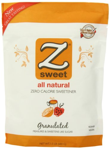Zsweet All Natural Zero Calorie Sweetener, 1.5-Pound Pouches (Pack of (Natural Zero Calorie Sweetener)