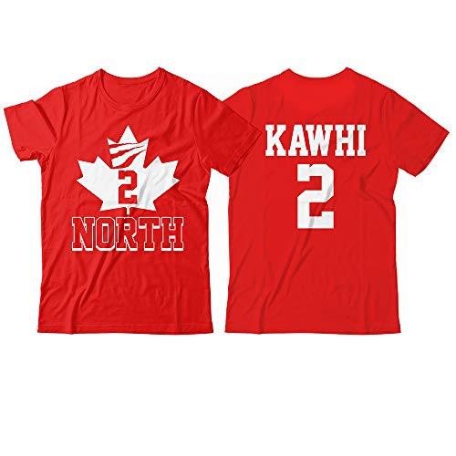 Kawhi No. 2 North Toronto Winning Champions Jersey 2 Sides Printing Customized Handmade T-Shirt Hoodie/Long Sleeve/Tank ()