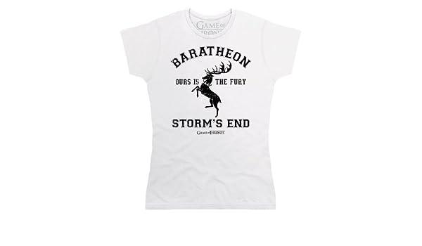Game Of Thrones Official House Baratheon Camiseta, para Mujer, Blanco, XL: Amazon.es: Ropa y accesorios