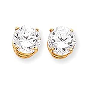 14k 9mm Round Earring Mountings