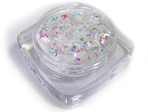 [Ice FX  Snow Frost Flakes Ice Cube, White, One Size] (Ice Queen Makeup)