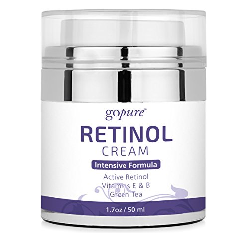goPure Retinol Cream with Active Retinol - Retinol Cream for Face - Anti Aging Retinol - Anti Wrinkle Retinol Moisturizer - Airless Jar - 1.7oz