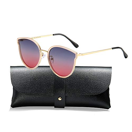 Oversized Cat Eyes Sunglasses for Women Polarized Fashion Vintage Eyewear for Outdoor - 100% UV Protection