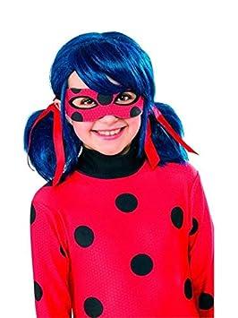 DISBACANAL Peluca de Ladybug para niña