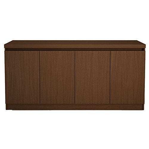 Manhattan Comfort Viennese Buffet/Sideboard Table in Nut Brown