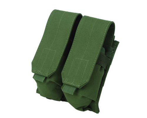 Tactical Molle Double 5.56 Magazine Holder Airsoft Hunting Ammo Pouch Bag Green