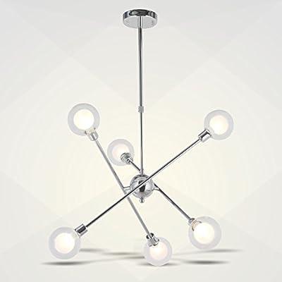 Moderno 1 llama, E27, A++ de LAMPENWELT para Dormitorio en Plateado hecho de Vidrio e.o L/ámpara de pared Yola aplique