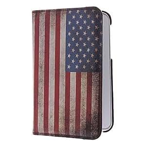 MOFY- EE.UU. bandera nacional del patr—n PU bolsas protetive Samsung Tablet P3100