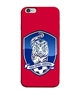 ColorKing Football South Korea 05 Red shell case cover for Apple iphone 6 / 6s