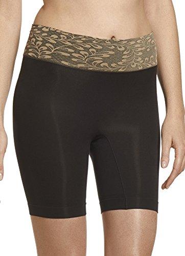 Jockey Women's Shapewear Skimmies Luxe Lace Slipshort, black, S