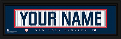 (New York Yankees Personalized Nameplate MLB Framed and Customized 24x8 Inches Art Print)