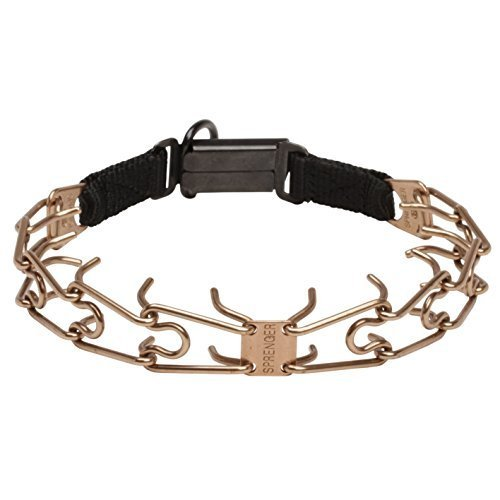 Herm Sprenger Click Lock Buckle Canine Pinch Collar Made of Curogan - 1/8 inch (3.2 mm) - Size 21 inch (52 cm)