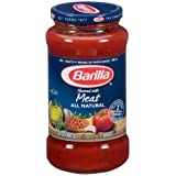 Barilla All Natural Meat Red Sauce, 24 Ounce - 12 per case.