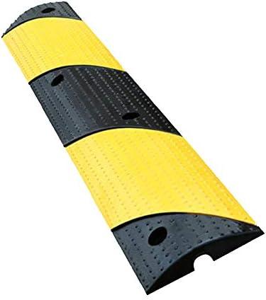 段差 スロープ プレート ゴム製縁石ランプ頑丈なプラスチックしきい値、黒黄色のケーブルプロテクターランプ、自動車のしきい値ランプ、ドック私道車両のロード用