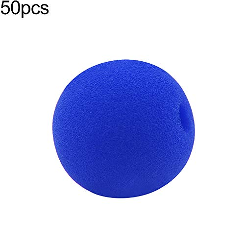 Quietcloud Same Item Douyin 5/10/50Pcs 5cm Soft Sponge Clown Nose Party Festival Costume Carnival Decor Prop Blue 5pcs