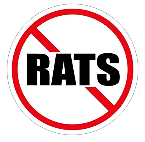 1 Pcs Preeminent Popular No Rats Vinyl Sticker Crane Operator Plant Factory Decor Stick Size 2