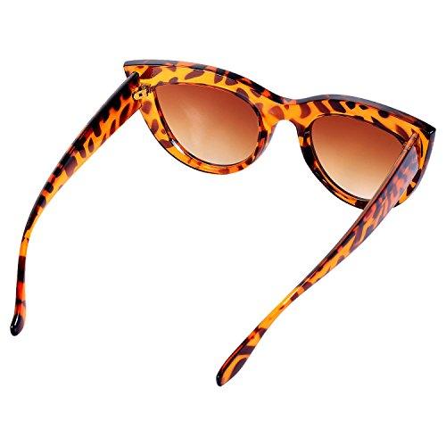 TOOGOO de sol mujer gato de Gafas Marco ojos de marron leopardo S17066 de retro sol Marco de Gafas Gafas de vintage sol de Negro femeninas Gafas negro rErwP7cSq