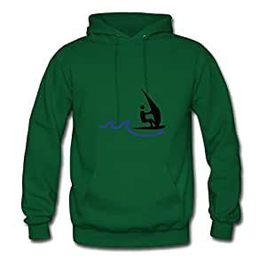 Customized X-large Hoody Green Sail Boarder Painting Women Cotton S
