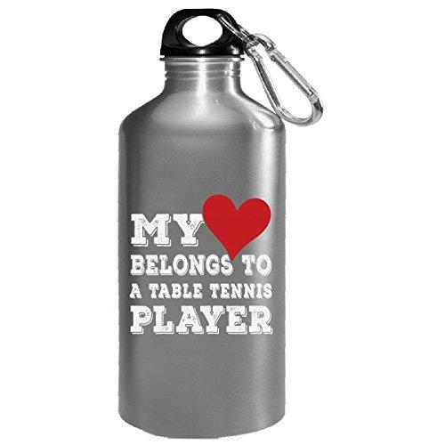 My Heart Belongs To A Table Tennis Player - Water Bottle by URBANTURB