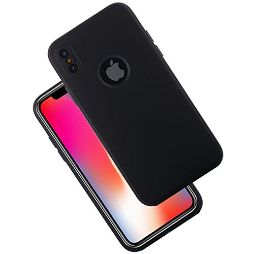 MECAWEB CUSTODIA COVER CASE FINTA PELLE PER APPLE iPhone X