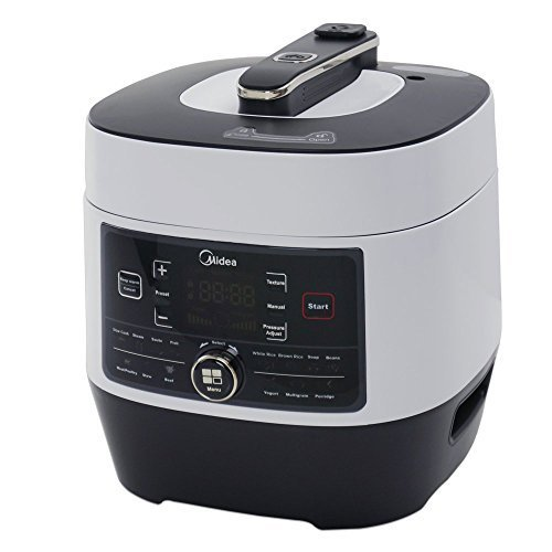 Midea MY-SS6062 Power 8-in-1 Multi-Functional Programmable Pressure Cooker, 6Qt/1000W Stainless Steel