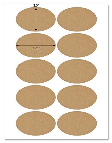 Kraft Laser Labels - Textured Brown Kraft 3.25